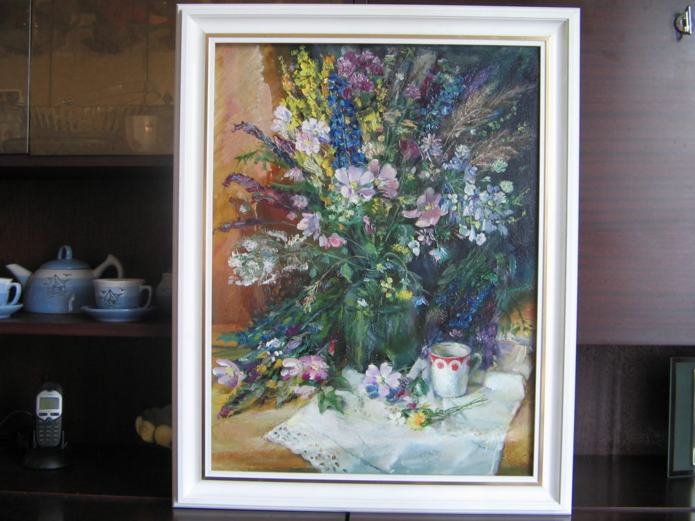 Картина : Натюрморт с цветами, масло, холст