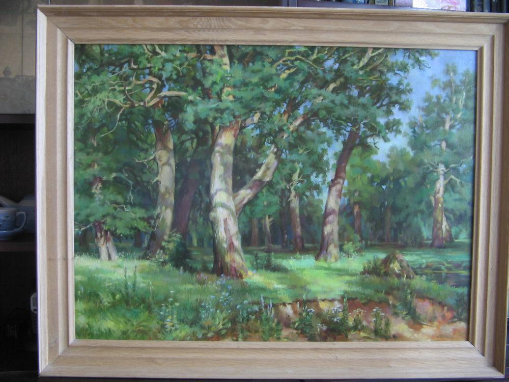 Картина : Лесной пейзаж, масло, холст