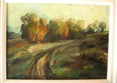 Картина : Дорога, масло, холст;