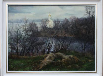 Картина Церковь на Комсомольском острове