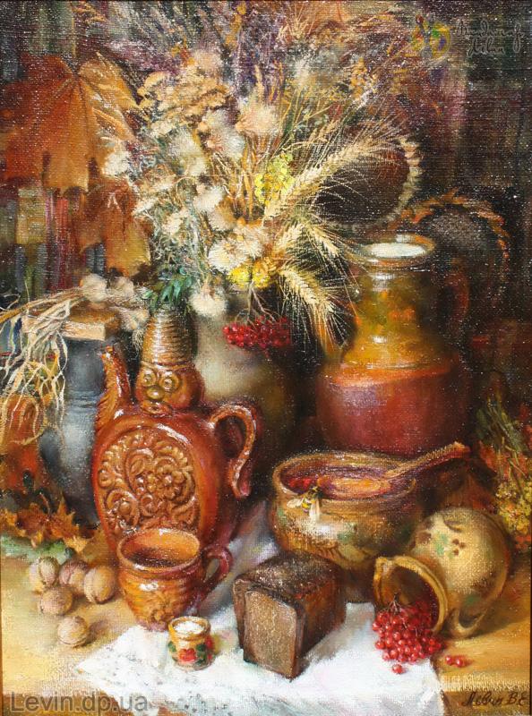Картина масло, холст - натюрморт