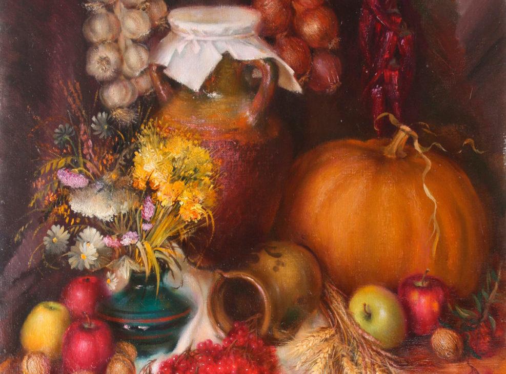 Картина натюрморт ягоды овощи и фрукты