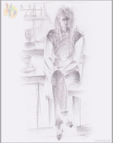 Рисунок, женщина