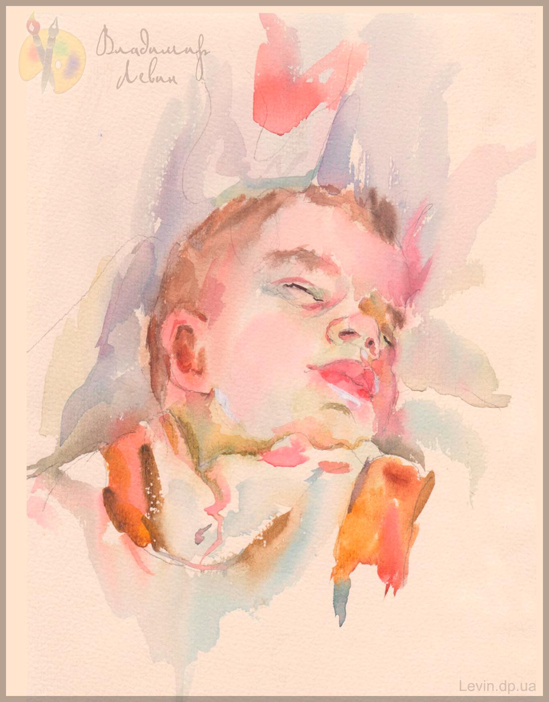 Спящий ребенок рисунок