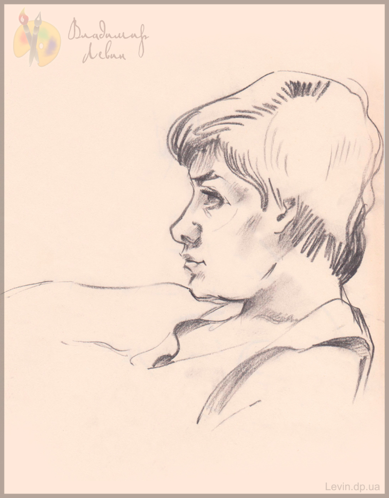 Портрет женщины, карандаш
