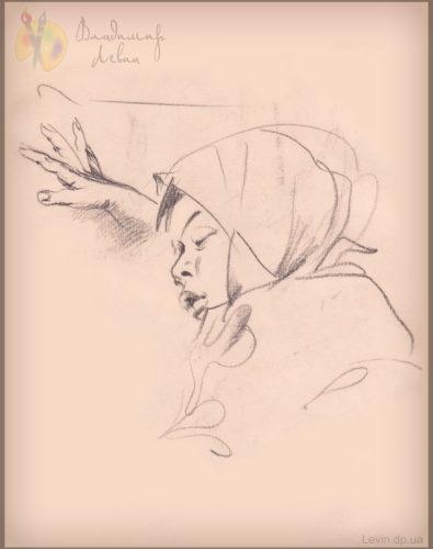 Рисунок спящий ребенок