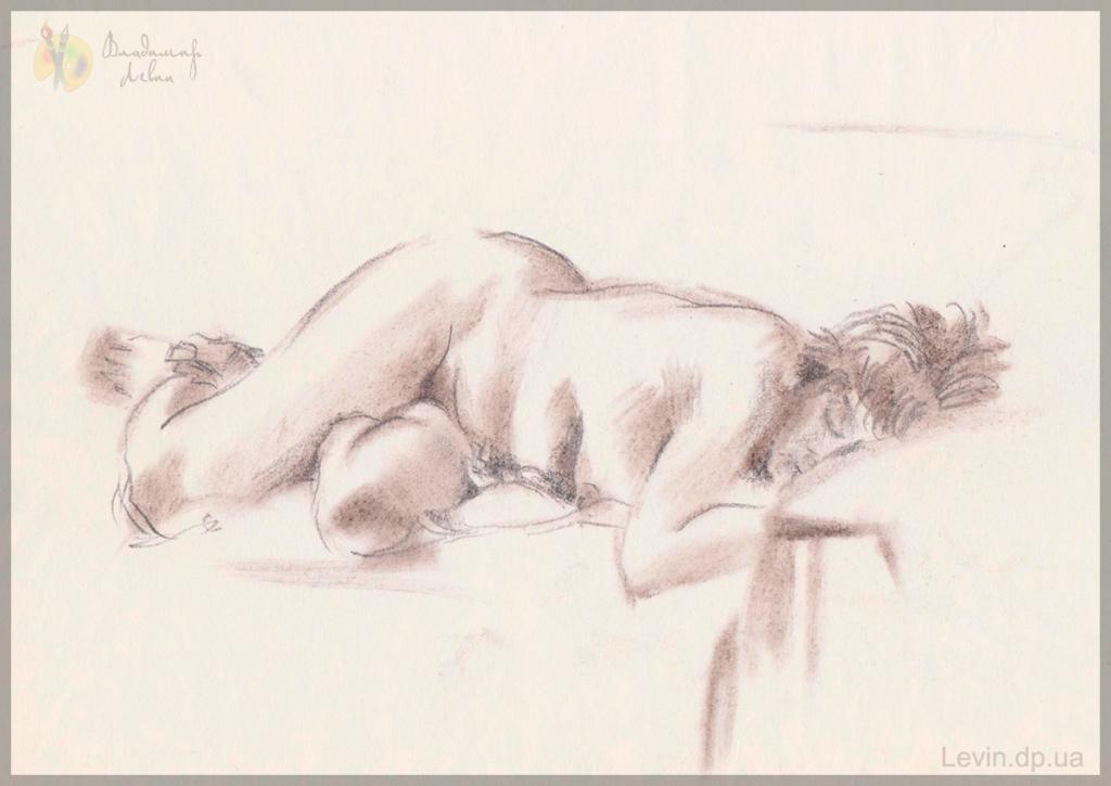 Рисунок спящая женщина
