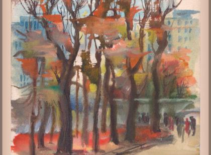 Городской пейзаж, рисунок
