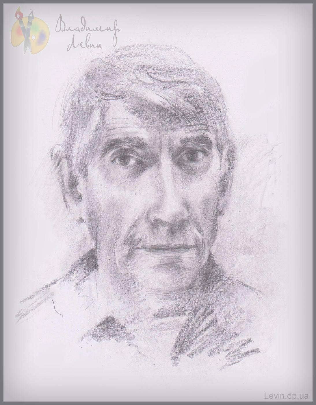 Автопортрет, рисунок