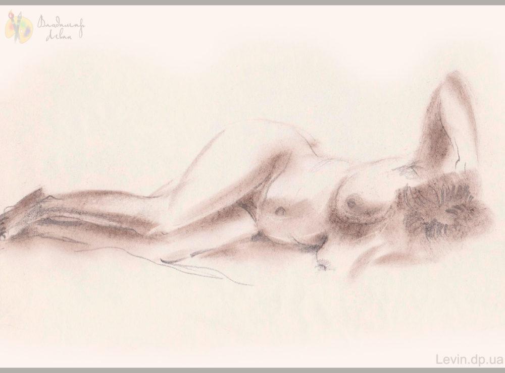 Женщина, рисунок