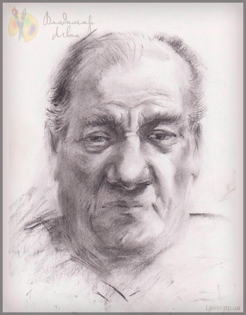 Портрет мужчины, рисунок