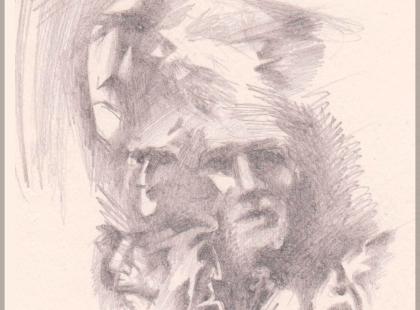 Графический рисунок, коллаж