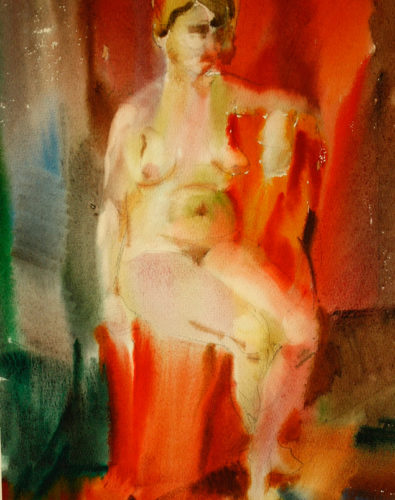 акварель, портрет