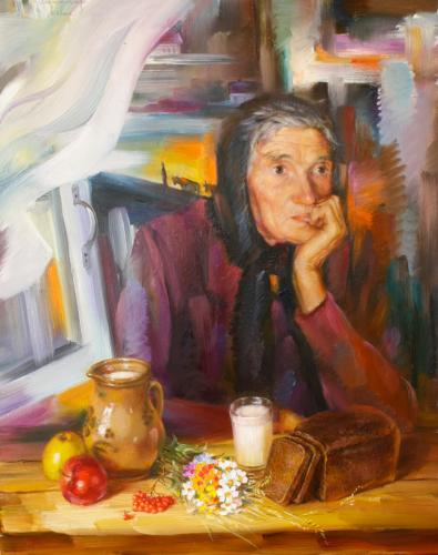 Портрет женщины за столом